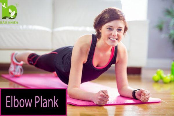 Bài tập elbow plank giúp giảm mỡ bụng hiệu quả