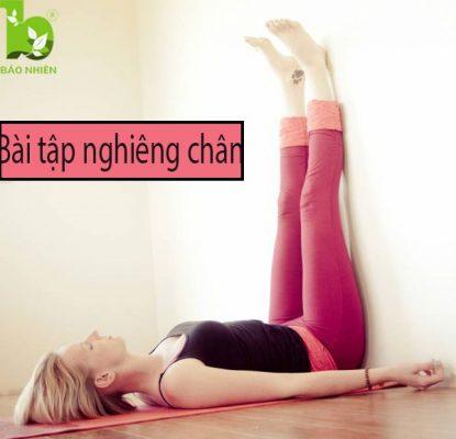 Bài tập nghiêng chân giúp giảm mỡ bụng hiệu quả