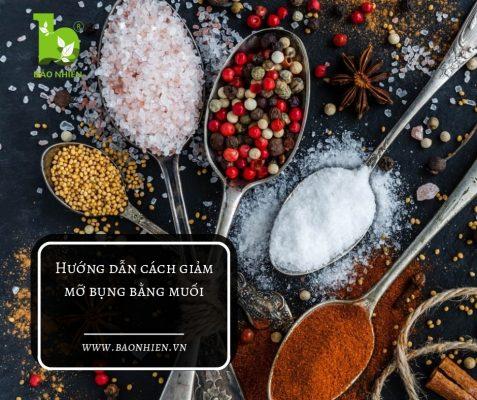 Bạn có thể làm riêng những công thức giảm mỡ bụng bằng muối của riêng bạn.