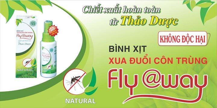 Bình xịt muỗi Fly@way 100% thảo dược thiên nhiên, không gây hại cho sức khỏe