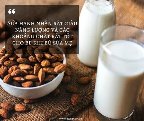 Sữa hạnh nhân lợi sữa cho mẹ