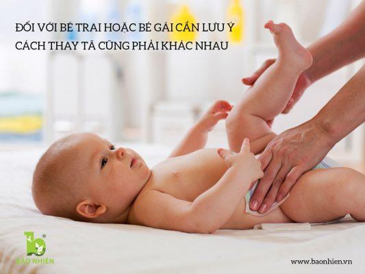 Tổng hợp các cách thay tã cho trẻ sơ sinh